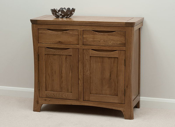 Orrick rustic solid oak small sideboard oak furniture land for Oak furniture land