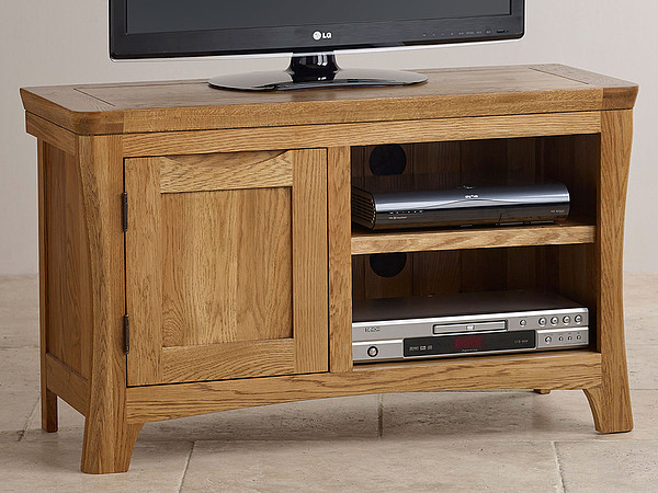Orrick Rustic Solid Oak TV Cabinet