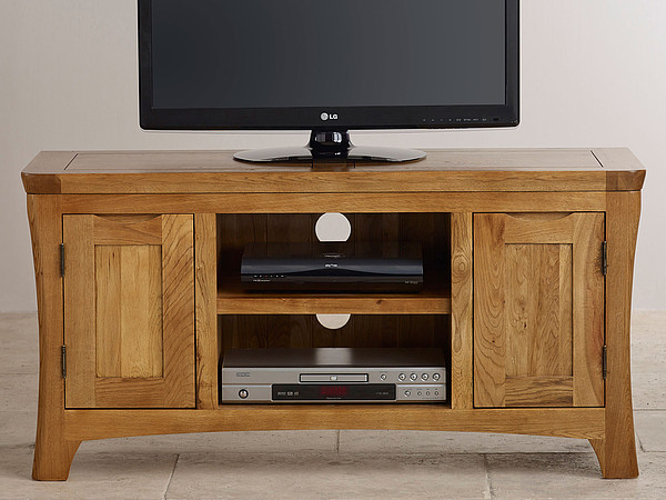 Orrick Rustic Solid Oak Widescreen TV Cabinet