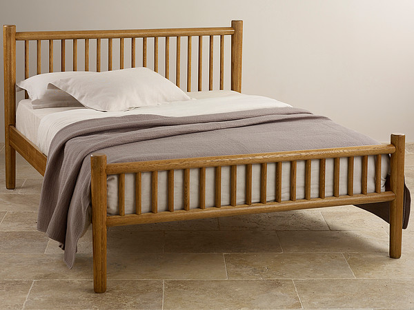 "Osaka Rustic Solid Oak 4ft 6"" Double Bed"