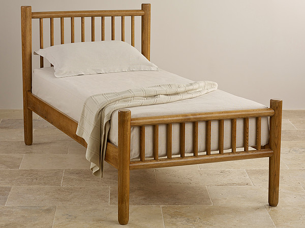 Osaka Rustic Solid Oak Single Bed