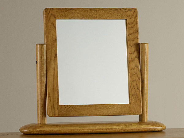 House Accessories Osaka Rustic Solid Oak Dressing Table Mirror