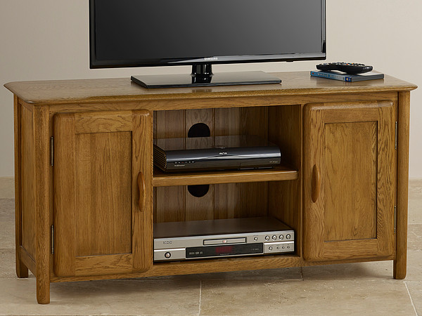 Osaka Rustic Solid Oak Widescreen TV Cabinet