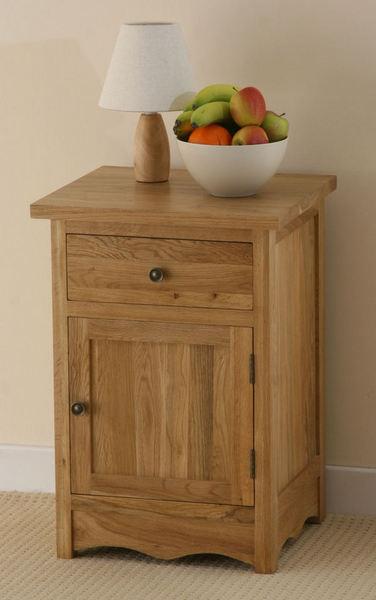Cairo Solid Oak Large Bedside Cabinet