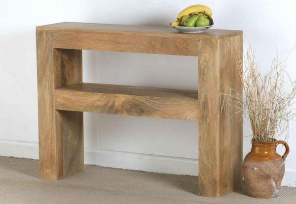 Mantis Light Solid Mango Console Table