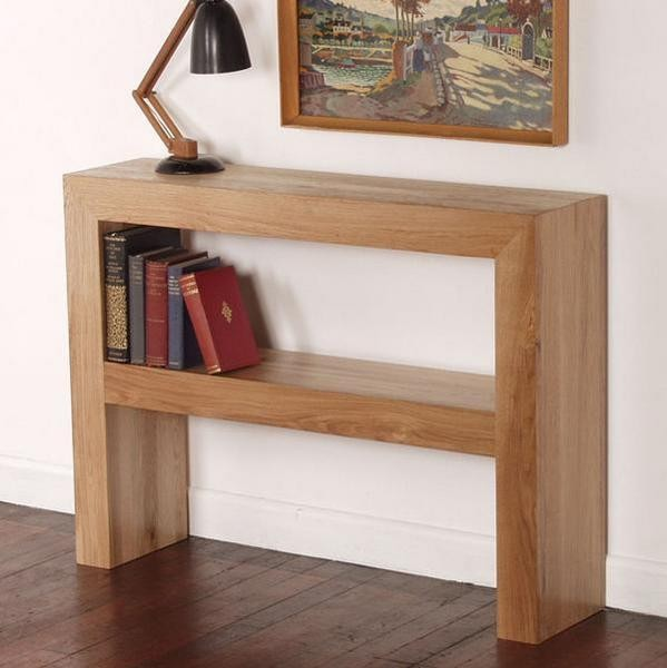 Nero Solid Oak Console Table