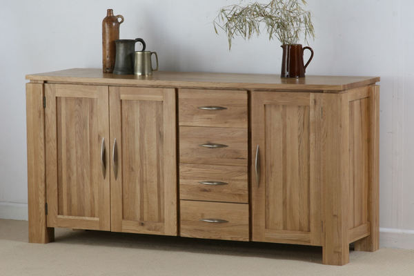 Galway Solid Oak Large Sideboard with Drawers