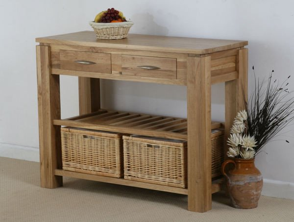 Galway Solid Oak Console Table with Storage