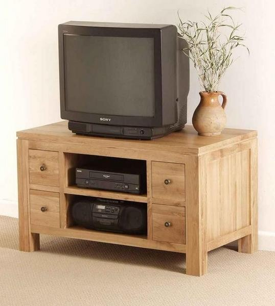 Dakar Solid Oak TV DVD VCR Cabinet