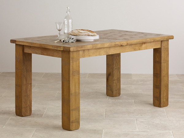 Ripley rough sawn solid oak 5ft x 3ft small extending for 5ft coffee tables