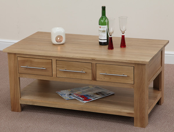 Rivermead Solid Oak 6 Drawer Coffee Table