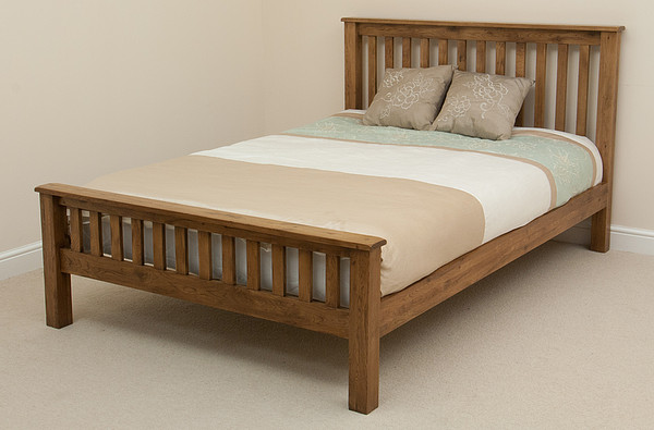 Original Rustic Solid Oak 4ft 6″ Double Bed