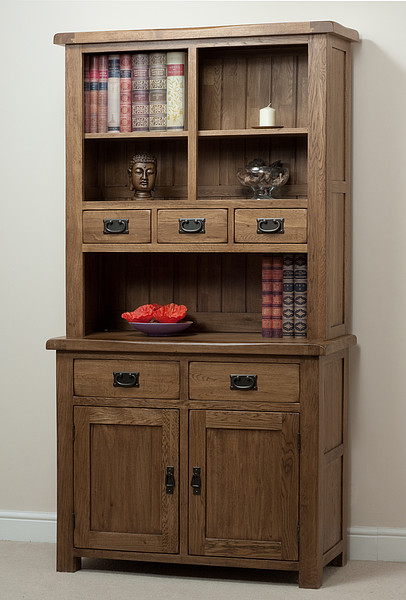 Original Rustic Solid Oak Dresser