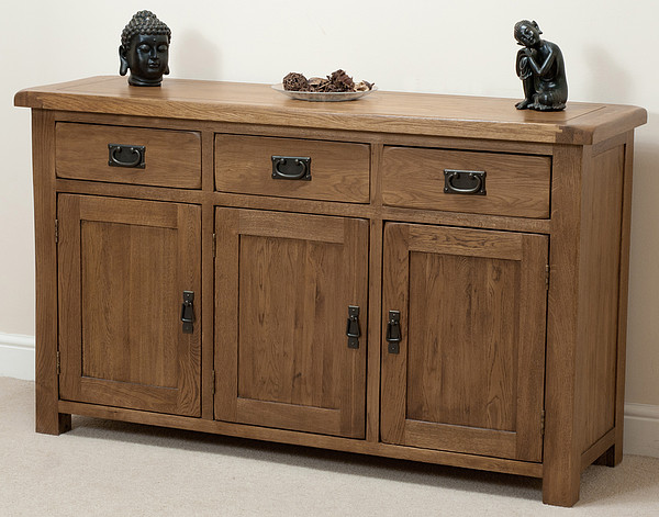 Large Rustic Sideboard In Solid Oak