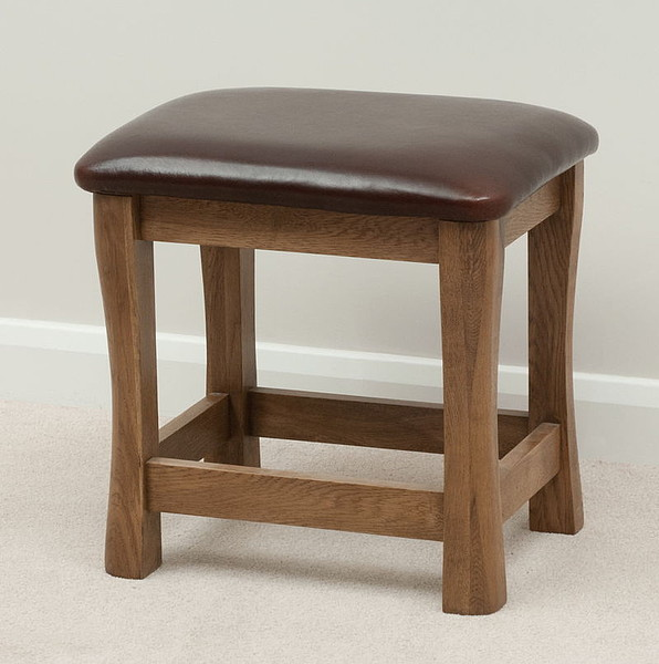 Orrick Rustic Solid Oak Dressing Table Stool