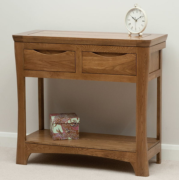 Orrick Rustic Solid Oak Console Table