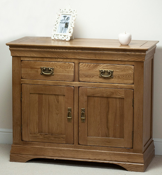 Furniture French Farmhouse Rustic Solid Oak Small Sideboard