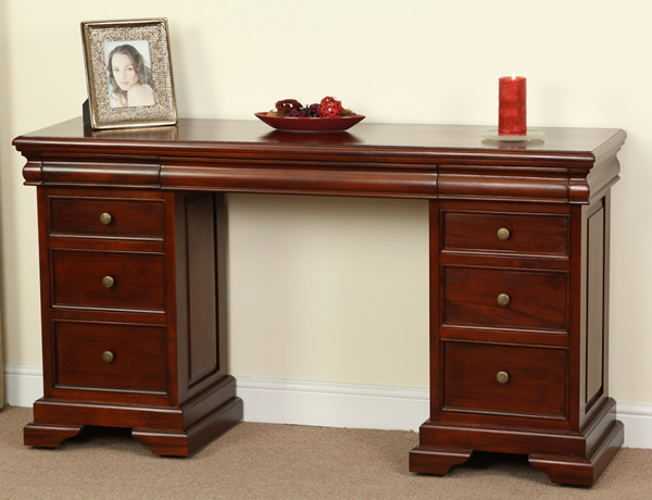 Sleigh Solid Mahogany 6+3 Drawer Dressing Table
