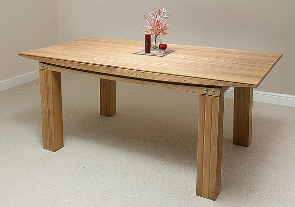 tokyo solid oak 6ft x 3ft dining table dining room furniture