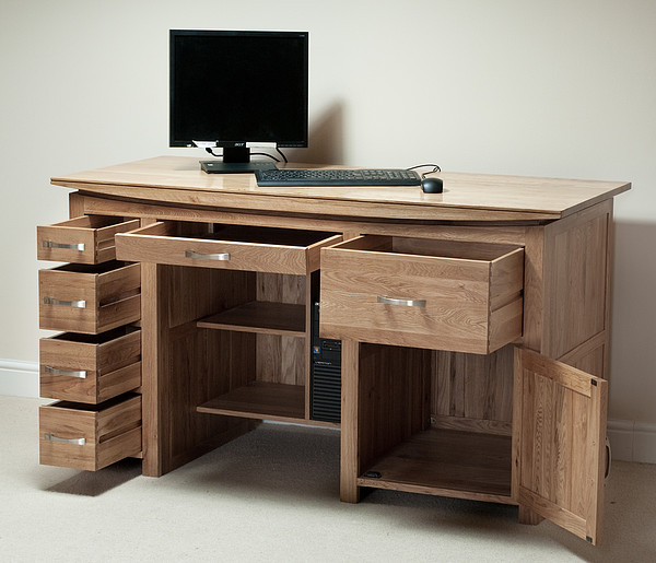 Tokyo Natural Solid Oak Large Computer Desk  Office Furniture. Yellow Desk Organizer. 6 Drawer Lateral File Cabinet. Desk Cell Phone Stand. Convert Normal Desk To Standing Desk. Poker Dining Table. Cheap Corner Computer Desk. Twin Captain Bed With Drawers. Lifespan Walking Desk
