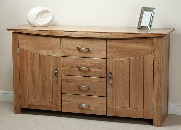 Tokyo natural solid oak large sideboard oak furniture land for Oak furniture land