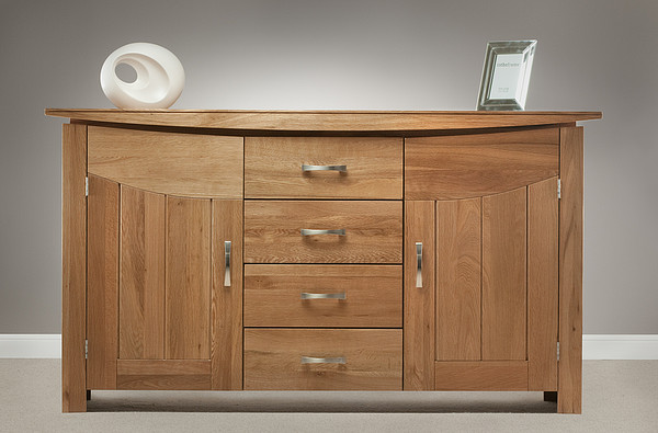 Tokyo Natural Solid Oak Large Sideboard Oak Furniture Land