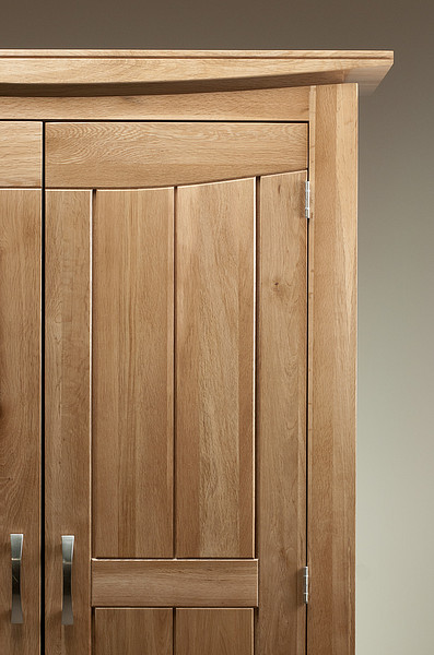 tokyo natural solid oak double wardrobe bedroom furniture. Black Bedroom Furniture Sets. Home Design Ideas