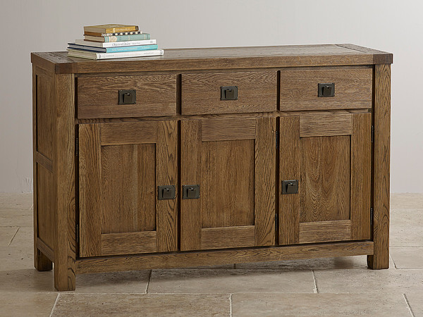 Windsor Brushed Solid Oak Large Sideboard