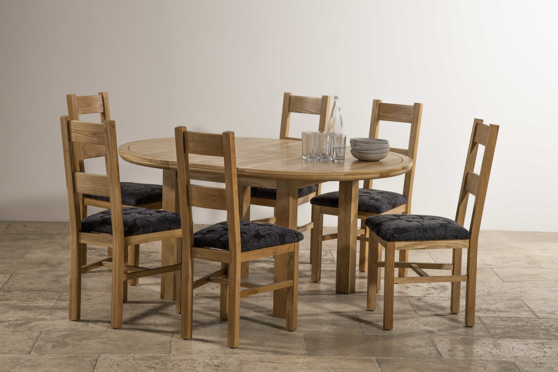 5ft 3 solid oak round extending dining table 6 for 6 foot round dining table