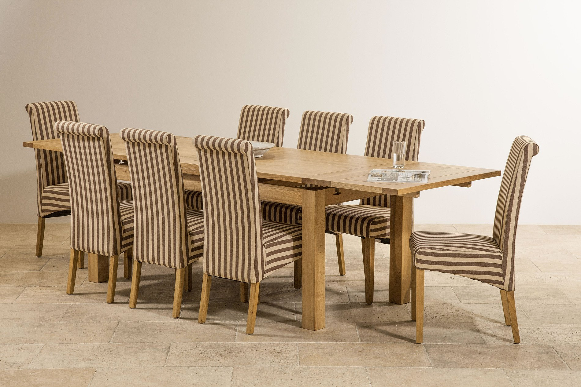 6ft x 3ft solid oak extending dining table seats up to 12 for 12 person dining table sets