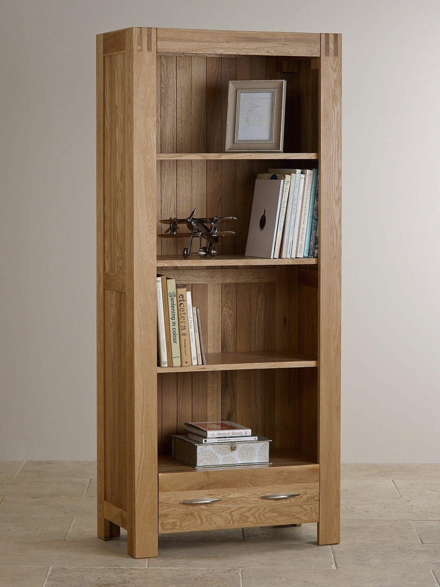 Alto natural solid oak bookcase home office furniture