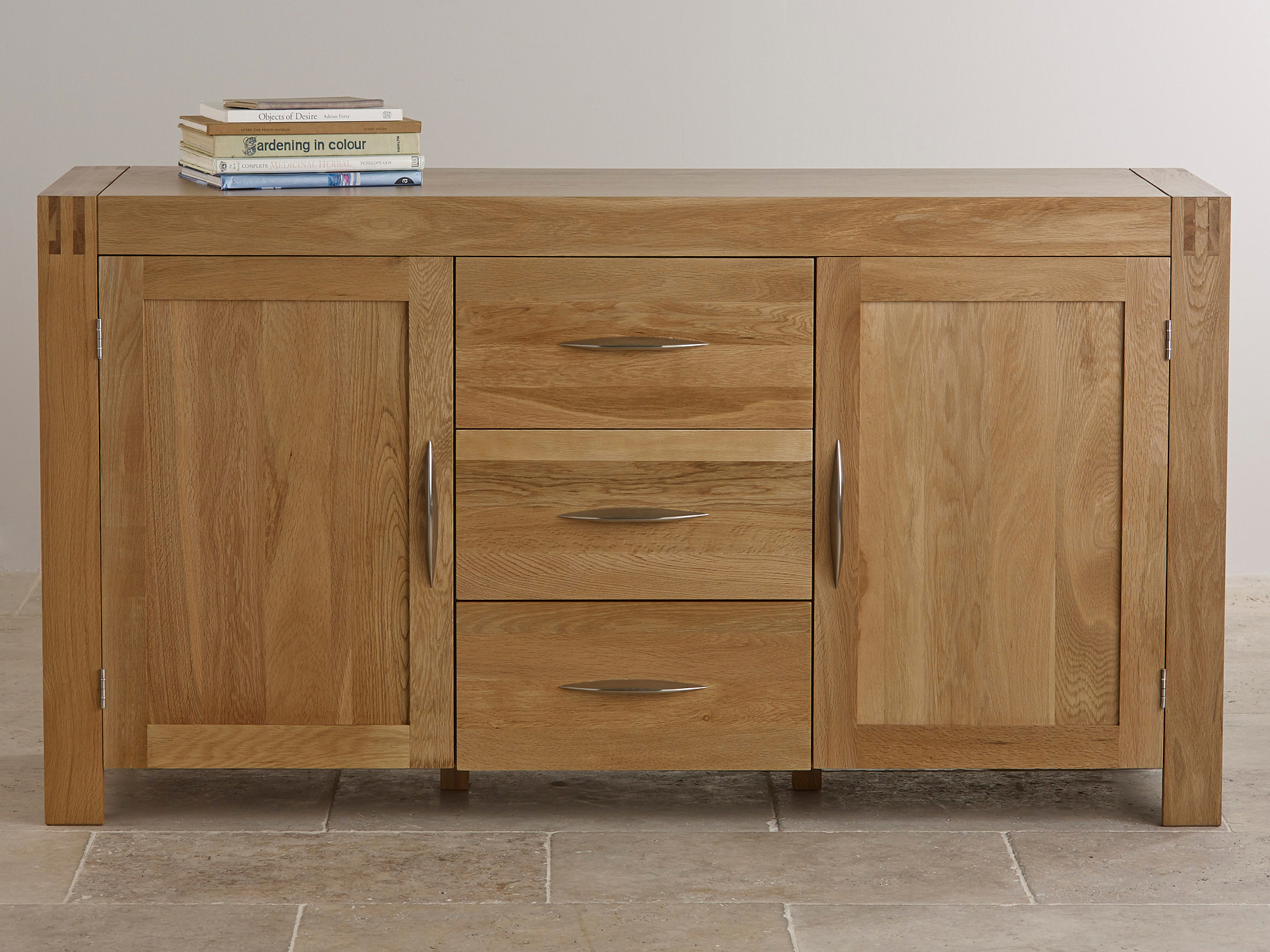 Alto natural solid oak large sideboard oak furniture land for Oak furniture land