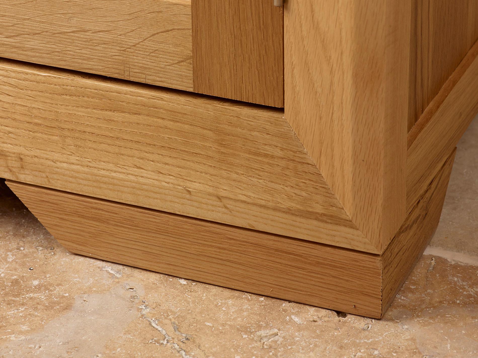 Bevel Natural Solid Oak Small Corner Tv Cabinet Oak