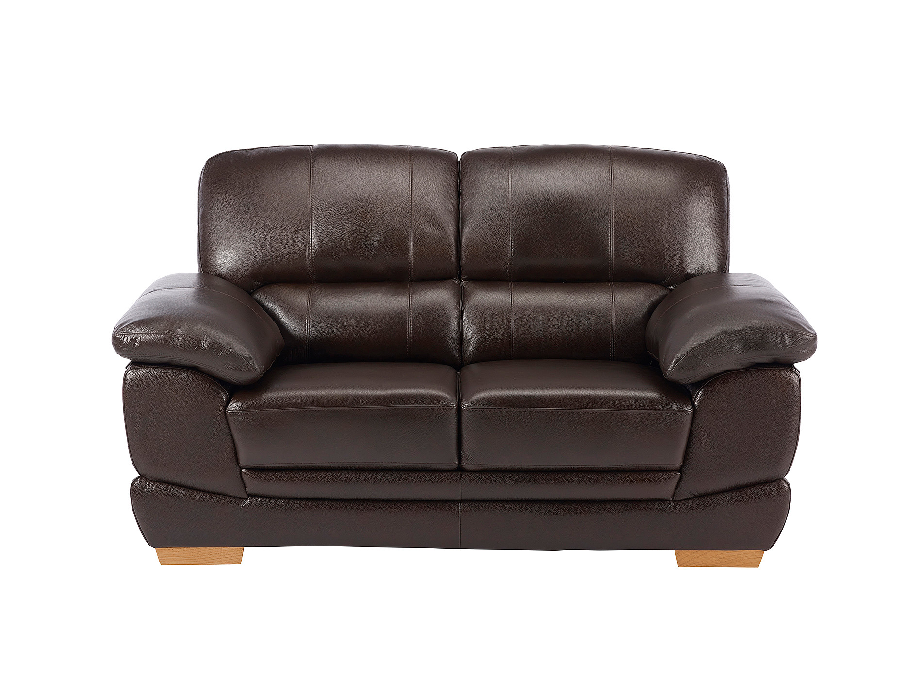 Cameron Brown Leather 2 Seater Sofa