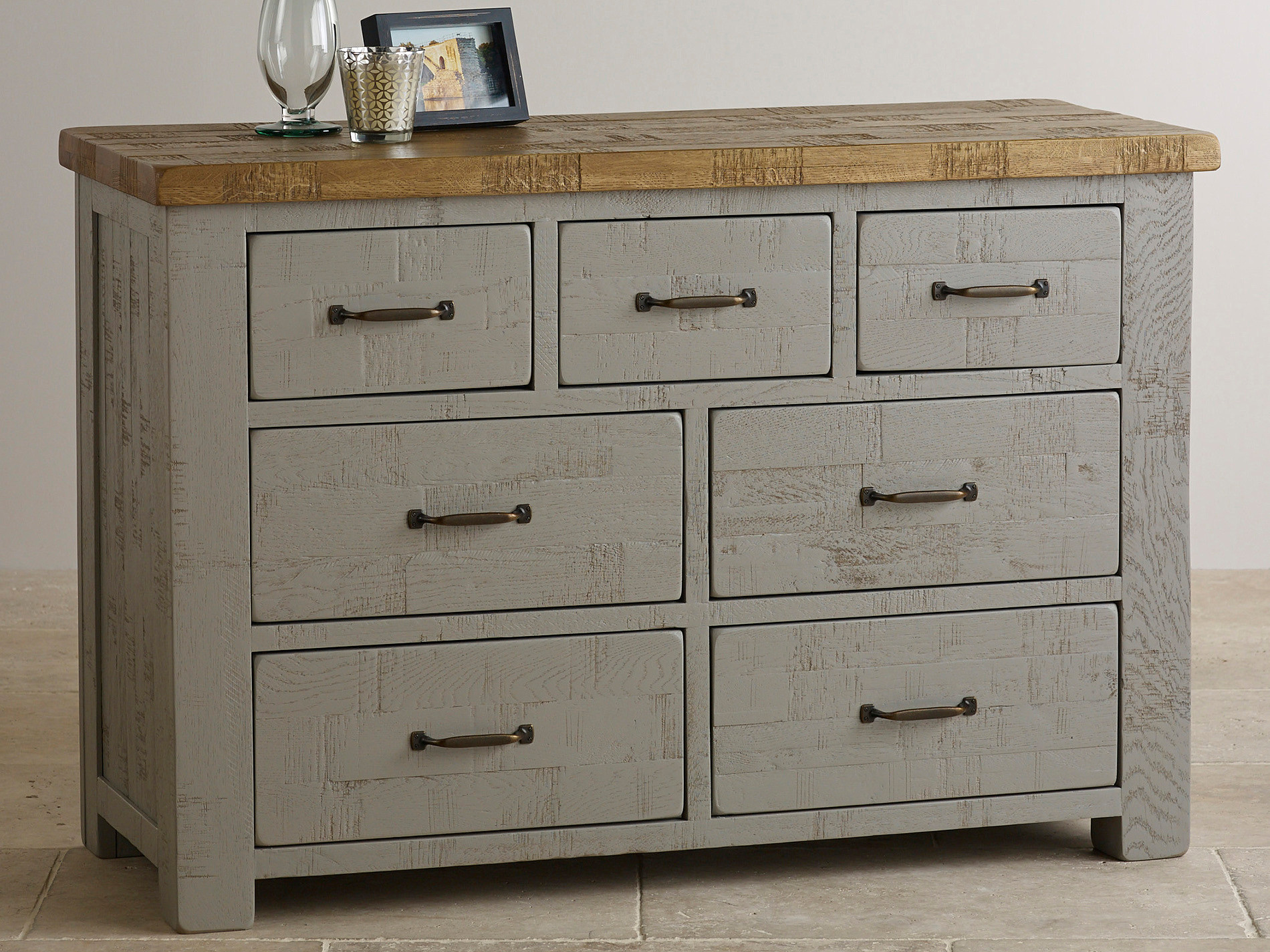 clermont painted rough sawn solid oak chest of drawers bedroom furniture. Black Bedroom Furniture Sets. Home Design Ideas