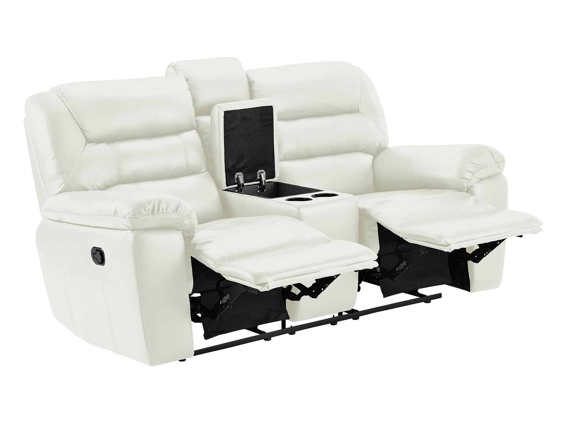 Devon small sofa with electric recliners off white leather windsor electric recliner chair Small white loveseat