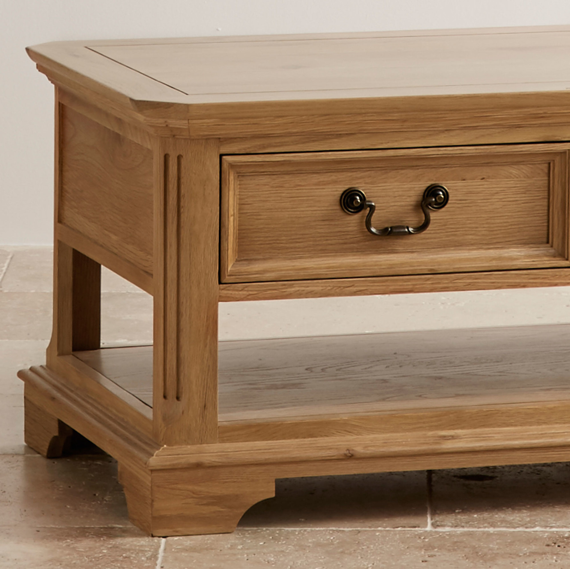 edinburgh natural solid oak coffee table. Black Bedroom Furniture Sets. Home Design Ideas