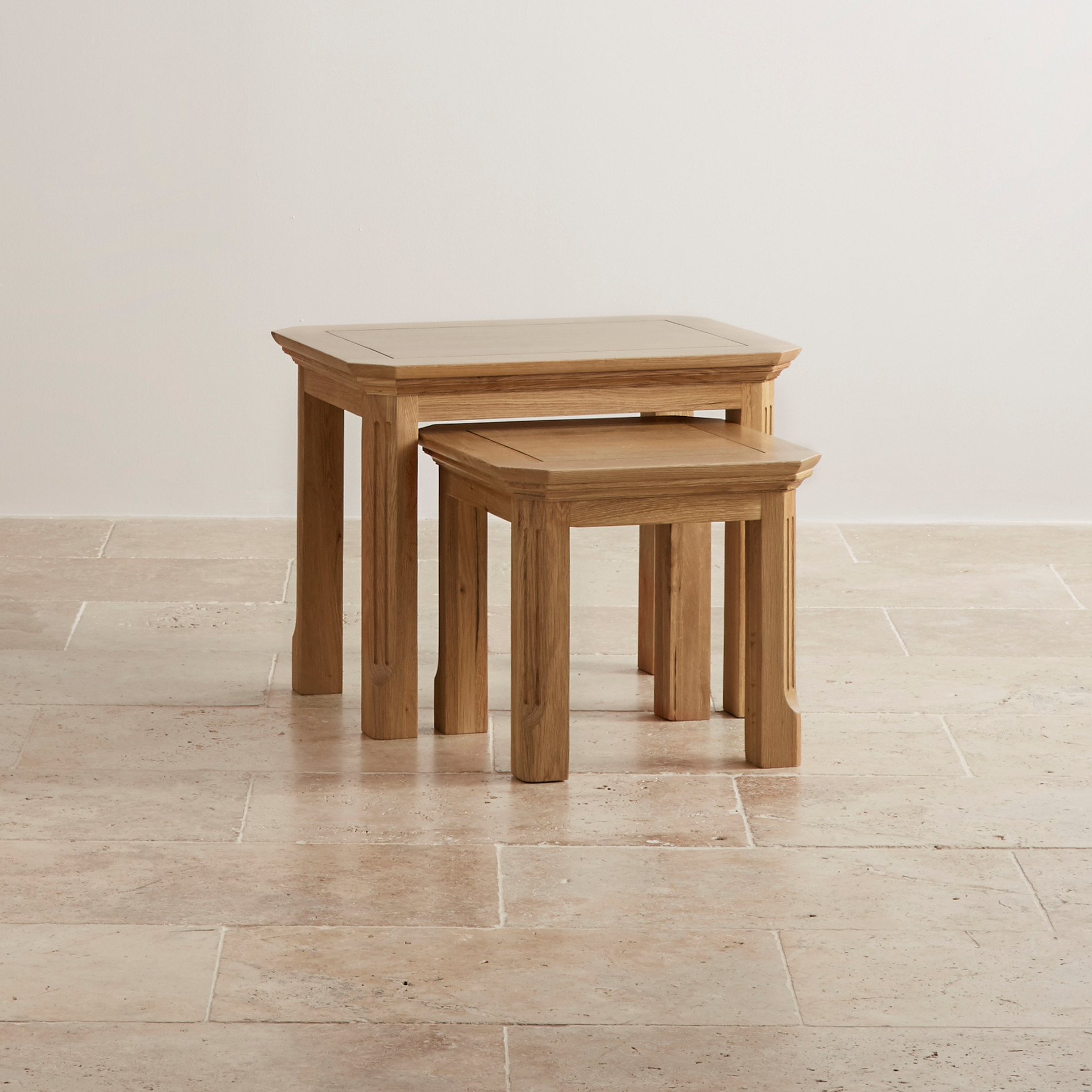 Wonderful image of Edinburgh Natural Solid Oak Nest of 2 Tables with #49260E color and 1900x1900 pixels