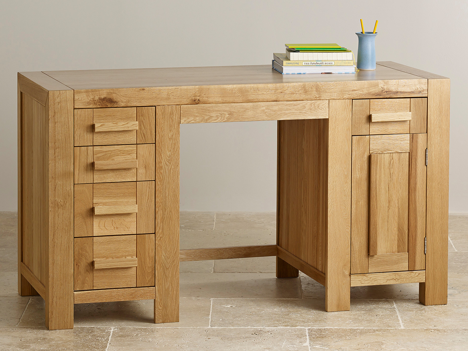 fresco natural solid oak computer desk home office furniture