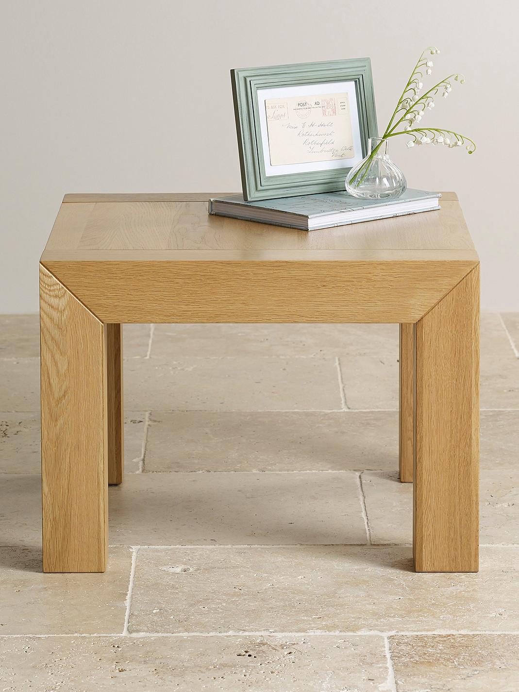 Oak Side Table: Fresco Natural Solid Oak Side Table