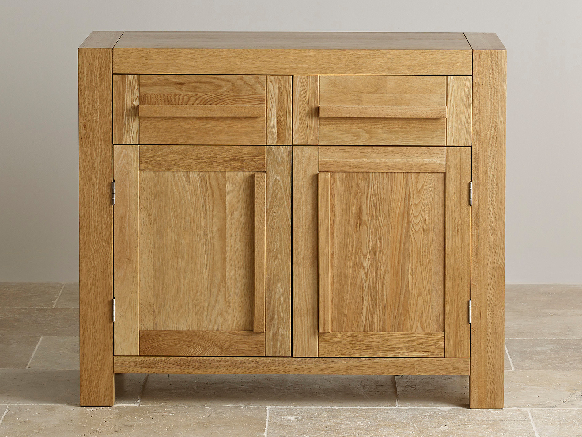 Fresco natural solid oak small sideboard oak furniture land for Oak furniture land