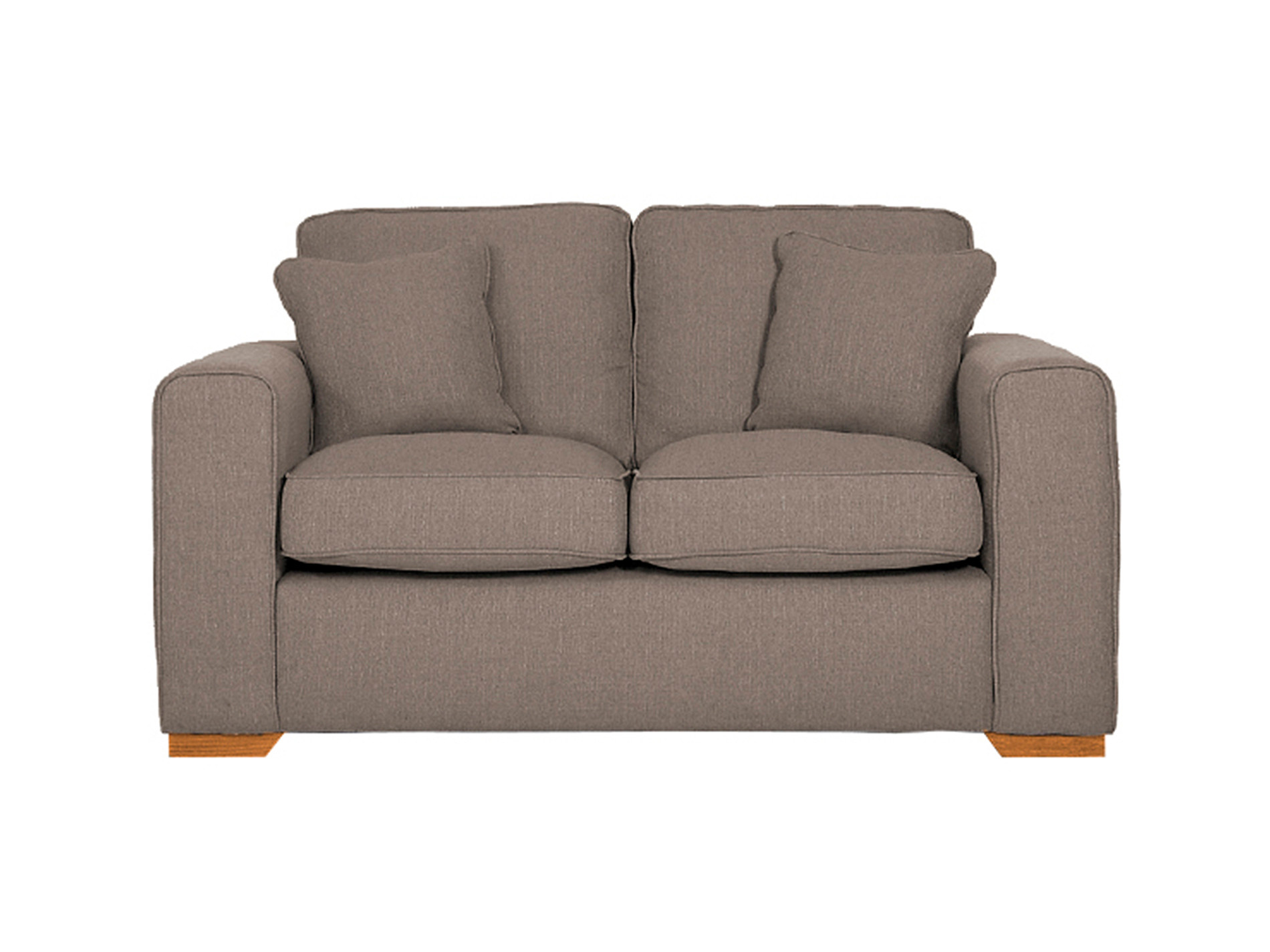 Harrison Small Sofa Bed Costa Stone With Rustic Oak Feet