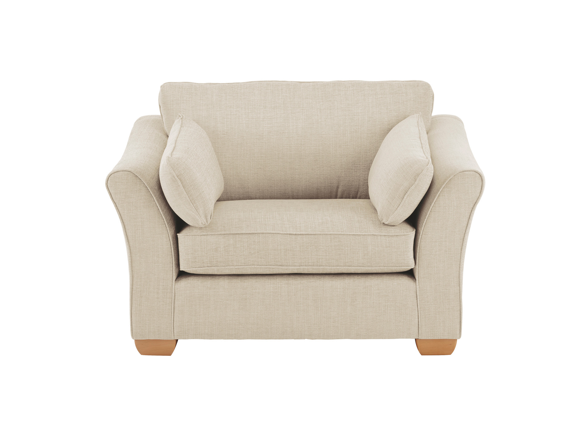 Henley love seat in eva oyster for Sofa bed 130cm wide