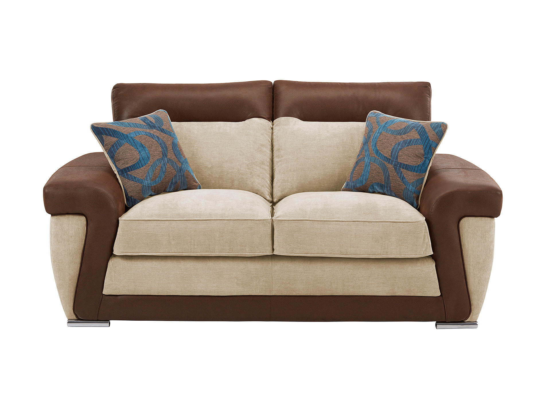 Mason small sofa in grace taupe for Teal and brown chair