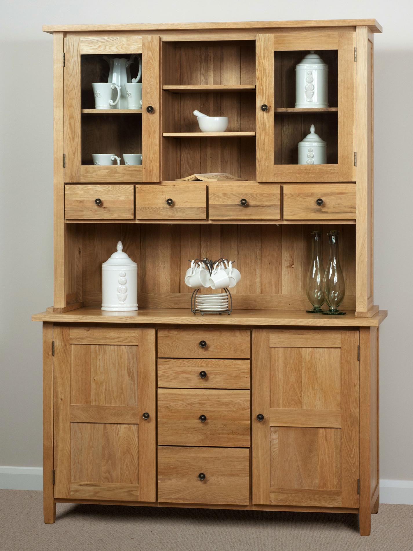 Natural Solid Oak Welsh Dresser Dining Room Furniture