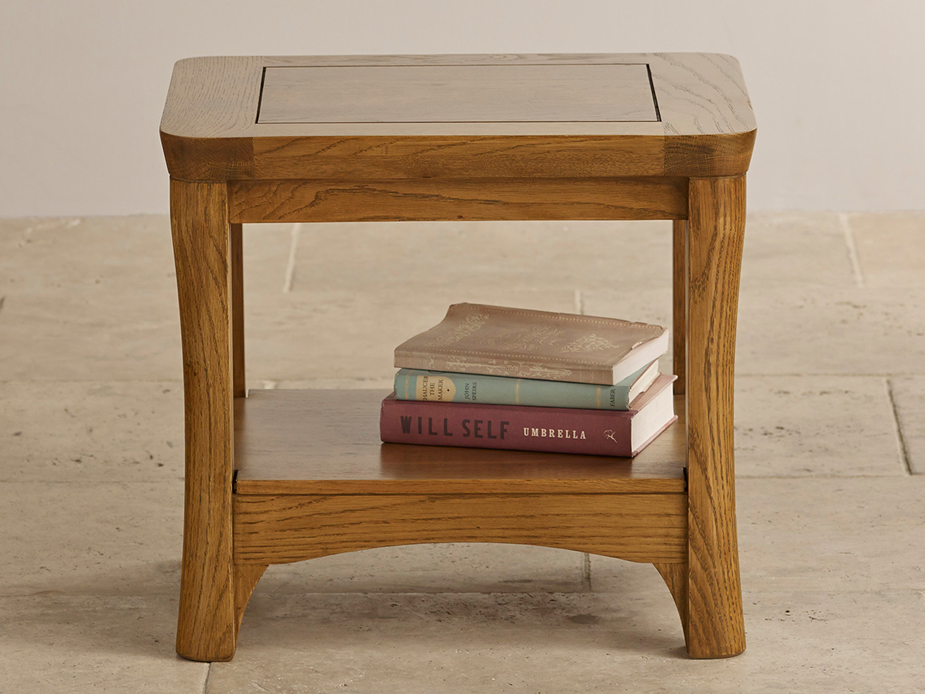 Orrick Rustic Solid Oak Lamp Table Living Room Furniture