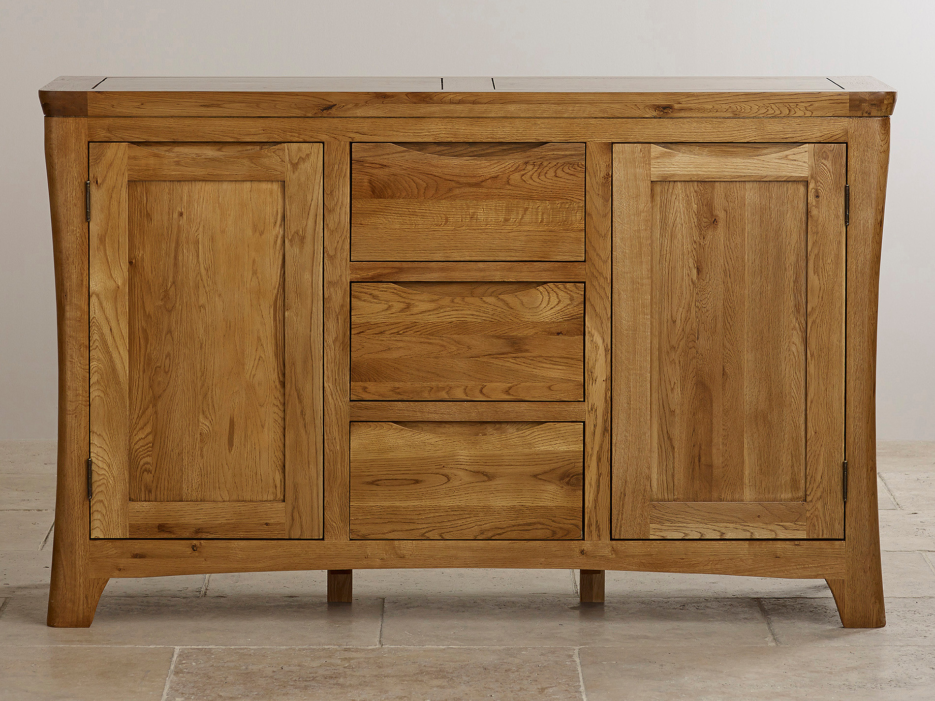 Orrick rustic solid oak large sideboard oak furniture land for Oak furniture land