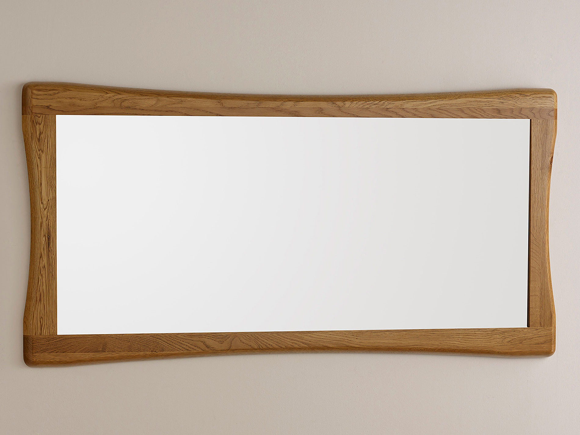 Orrick natural solid oak 1200mm x 600mm wall mirror for 4 x 5 wall mirror
