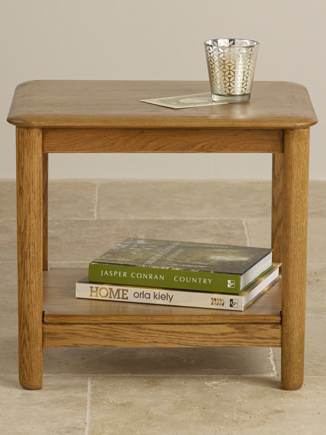 Rustic Wood Bedside Table: Osaka Rustic Solid Oak Bedside Table