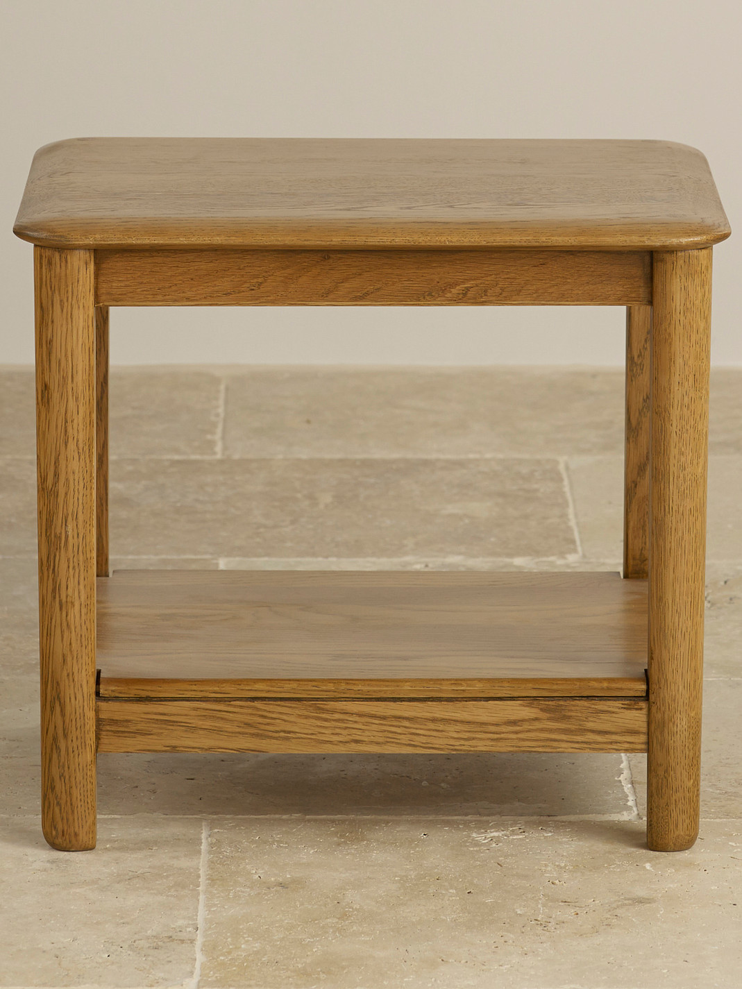 Osaka rustic solid oak side table oak furniture land for Oak furniture land